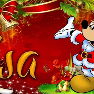Portadas de Navidad con tu Nombre, de MICKEY,Lisa!!!