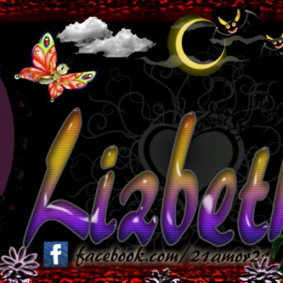Portadas para tu Facebook con tu nombre, Lizbeth