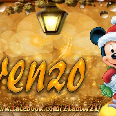 Portadas de Navidad con tu Nombre, de MICKEY, Lorenzo!!!