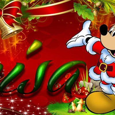Portadas de Navidad con tu Nombre, de MICKEY, Luisa!!!