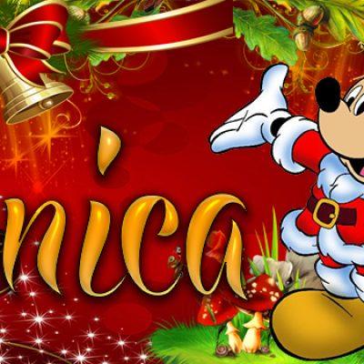 Portadas de Navidad con tu Nombre, de MICKEY, Mónica!!!
