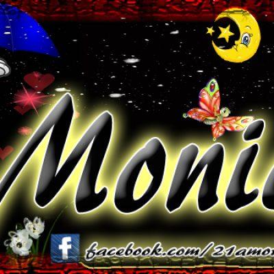 Portadas para tu Facebook con tu nombre, Monica