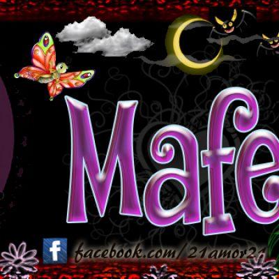 Portadas para tu Facebook con tu nombre, Mafe