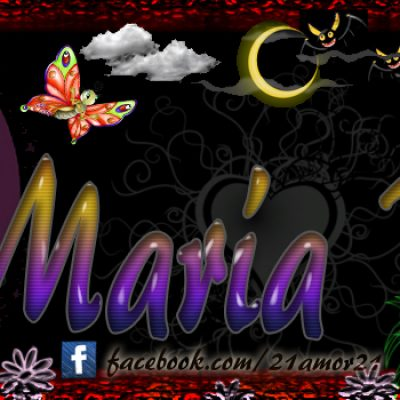 Portadas para tu Facebook con tu nombre, María Belén