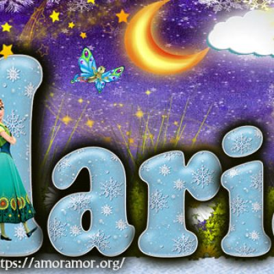 Portadas para tu Facebook con tu nombre de Frozen,Maria
