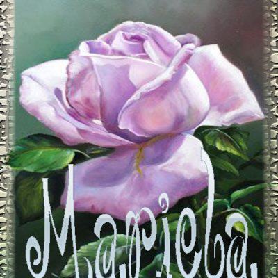 Nombre en Rosas,Mariela