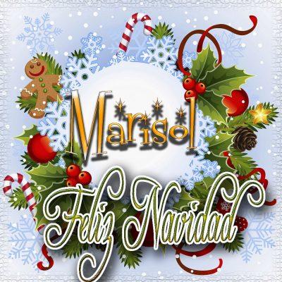 Feliz Navidad, Tarjetas con tu Nombre!!!  Marisol