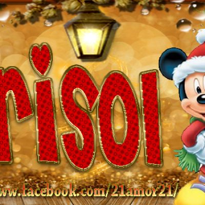 Portadas de Navidad con tu Nombre, de MICKEY,Marisol!!