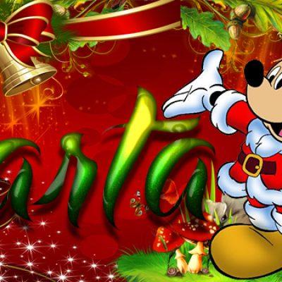 Portadas de Navidad con tu Nombre, de MICKEY, Marta!!!