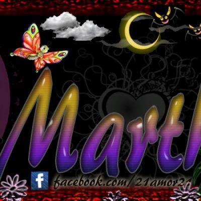 Portadas para tu Facebook con tu nombre, Martha