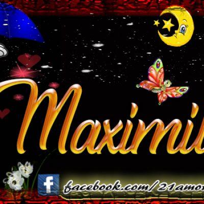 Portadas para tu Facebook con tu nombre, Maximiliano
