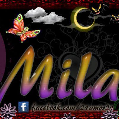 Portadas para tu Facebook con tu nombre,Mila