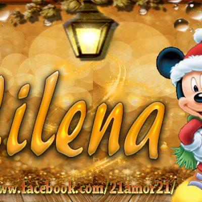 Portadas de Navidad con tu Nombre, de MICKEY, Milena!!!