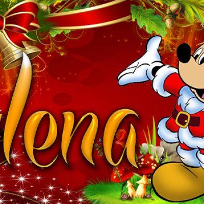 Portadas de Navidad con tu Nombre, de MICKEY, Mylena!!!
