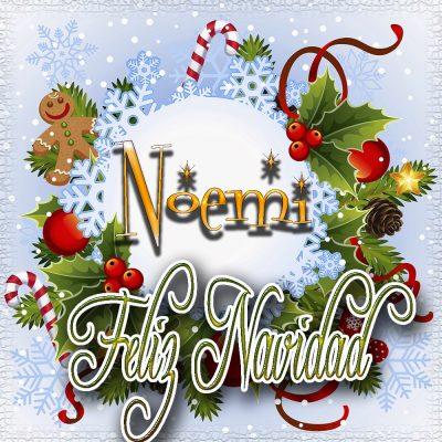 Feliz Navidad, Tarjetas con tu Nombre!!! Noemi