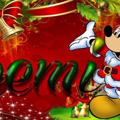 Portadas de Navidad con tu Nombre, de MICKEY, Noemi!!!