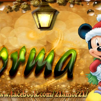 Portadas de Navidad con tu Nombre, de MICKEY,Norma!!!