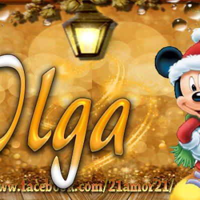 Portadas de Navidad con tu Nombre, de MICKEY, Olga!!!