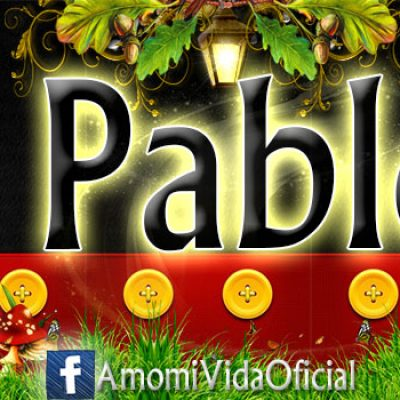 Nuevas Portadas para tu Facebook con tu nombre de Minnie y Mickey,Pablo