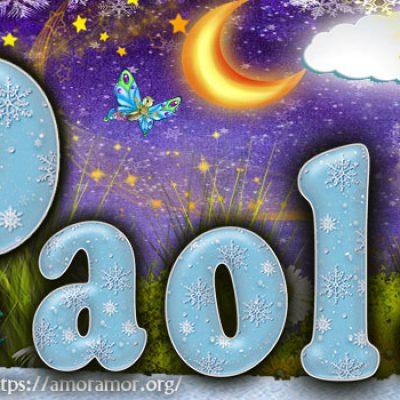 Portadas para tu Facebook con tu nombre de Frozen,Paola