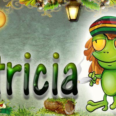 Portadas para tu Facebook de la Rana con tu nombre,Patricia