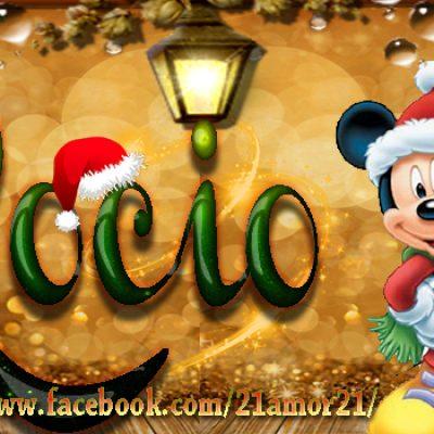 Portadas de Navidad con tu Nombre, de MICKEY,Rocio!!!