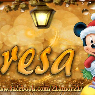 Portadas de Navidad con tu Nombre, de MICKEY, Teresa!!!
