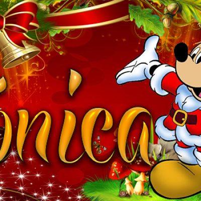 Portadas de Navidad con tu Nombre, de MICKEY, Verónica!!!