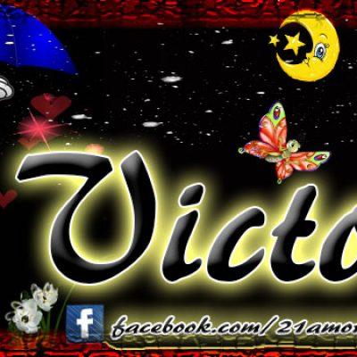 Portadas para tu Facebook con tu nombre,Victor