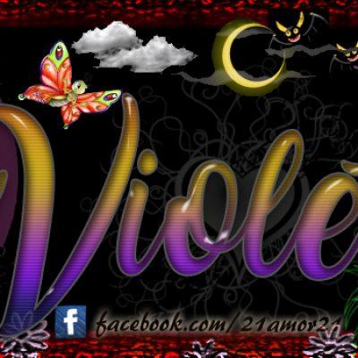 Portadas para tu Facebook con tu nombre, Violeta