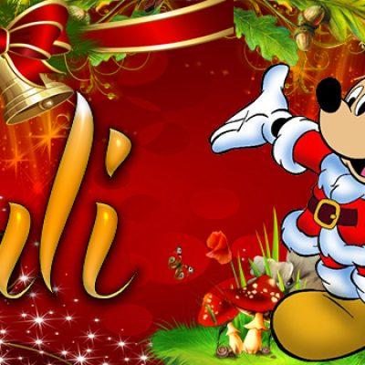 Portadas de Navidad con tu Nombre, de MICKEY, Yuli!!!