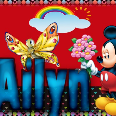 Tu miki mouse con tu Nombre,AILYN