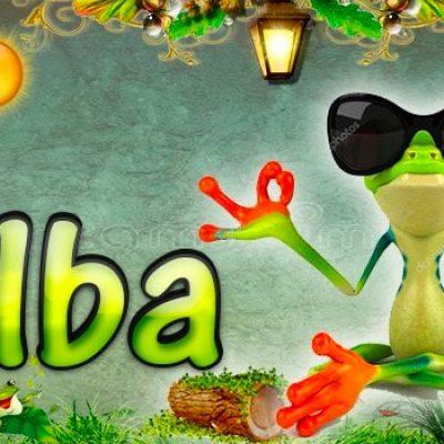 Portadas para tu Facebook de la Rana con tu nombre,Alba