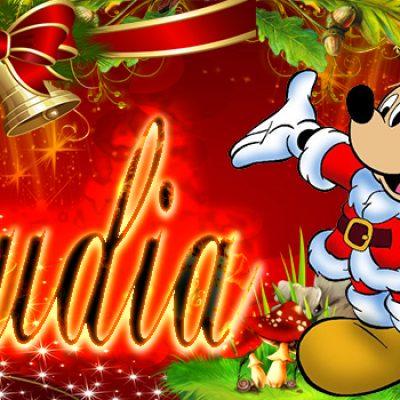 Portadas de Navidad con tu Nombre, de MICKEY,Claudia!!!