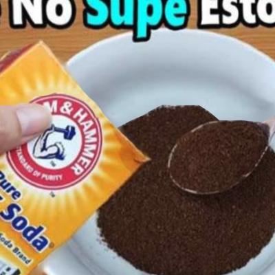 Mezcle café y bicarbonato