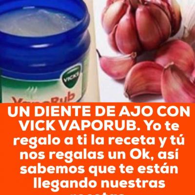 Te lamentaras por siempre si no untas un diente de ajo con Vick VapoRub, este es el mejor truco