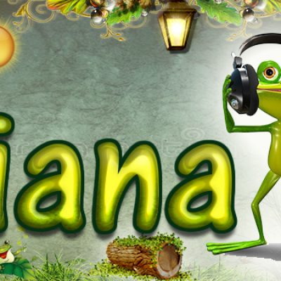 Portadas para tu Facebook de la Rana con tu nombre, Diana