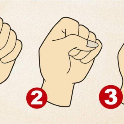 ¿Cómo cierras tu puño? La respuesta dice algo importante sobre tu personalidad