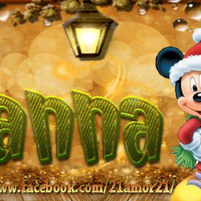 Portadas de Navidad con tu Nombre, de MICKEY,Ivanna!!!