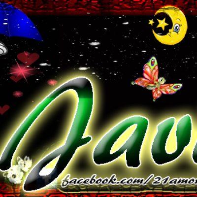Portadas para tu Facebook con tu nombre, Javid