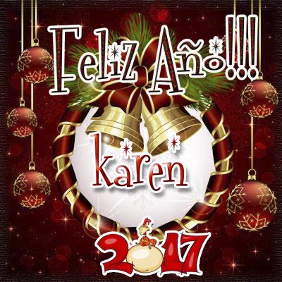 Lindas tarjetas para perfil con tu nombre 2017!!! karen