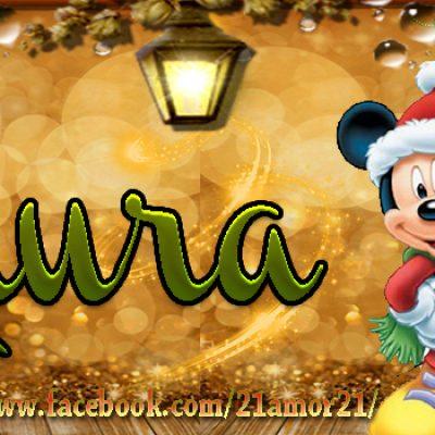 Portadas de Navidad con tu Nombre, de MICKEY,Laura!!!