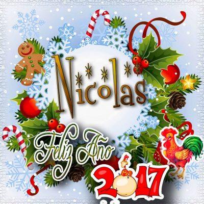 Lindas tarjetas para perfil con tu nombre 2017!!! Nicolas