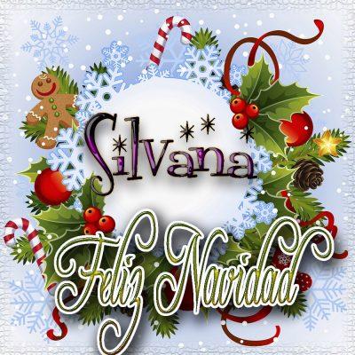 Feliz Navidad, Tarjetas con tu Nombre!!! Silvana