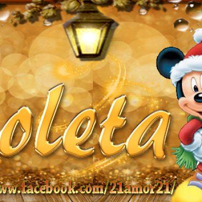 Portadas de Navidad con tu Nombre, de MICKEY, Violeta!!!