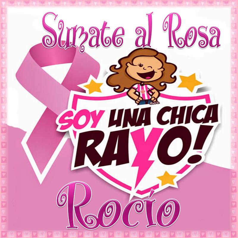 19 de Octubre Día mundial contra el Cancer.Rocío