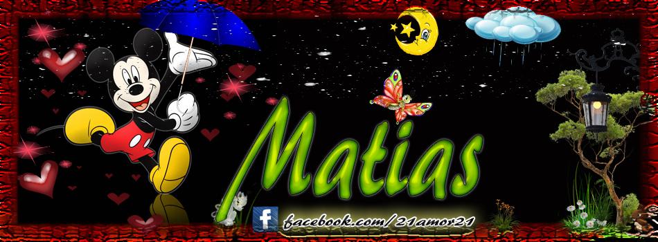 Portadas para tu Facebook con tu nombre, Matias