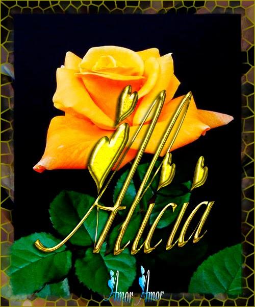 Nombre en Rosas,Alicia