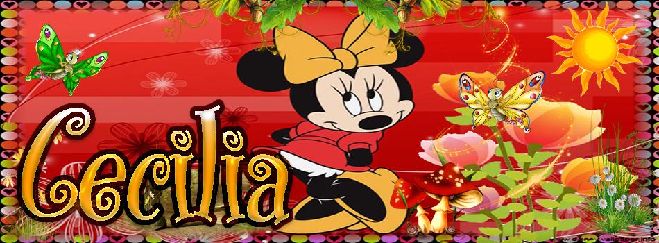TU miki mouse con tu Nombre,Cecilia