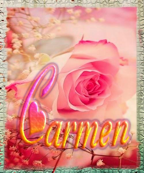 Nombre en Rosas,Carmen